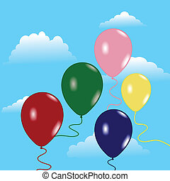 Sky with balloons