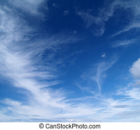 sky with Cirrus clouds - The sky with white clouds - Cirrus...