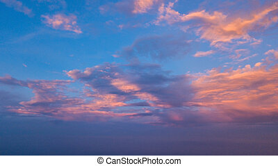 sky with Cloud in Twilight time