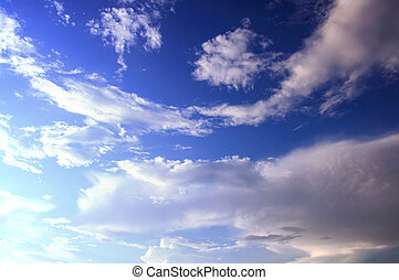 sky with clouds background