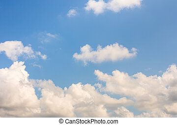 Sky with clouds for background.