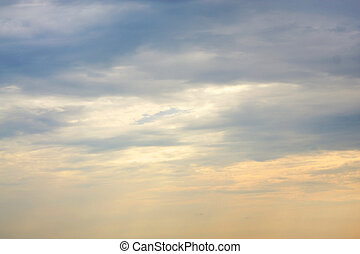 Sky with clouds, for backgrounds or textures