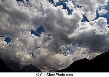sky with clouds in the background