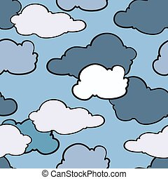sky with clouds, seamless pattern