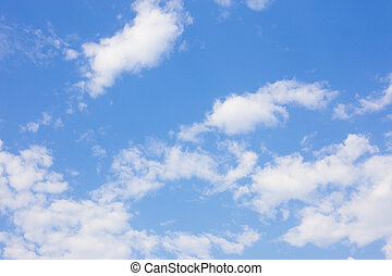 Sky with clouds.