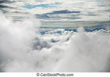 sky with clound close up