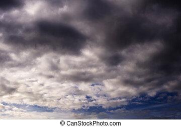 sky with dark clouds background