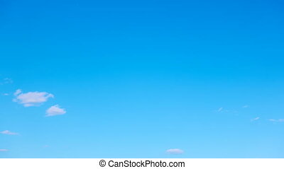 Sky with light white clouds - Seamless loop timelapse