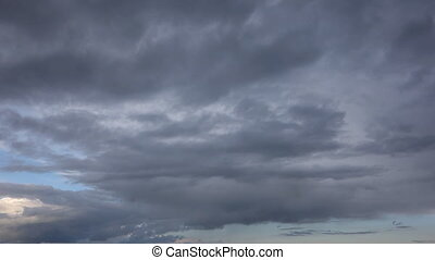 sky with rainy clouds. Timelapse