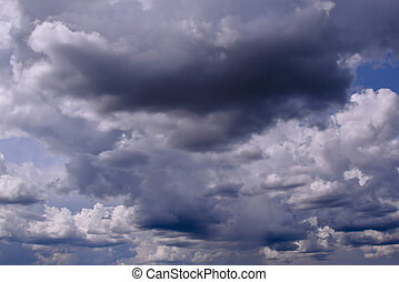 sky with stormy clouds