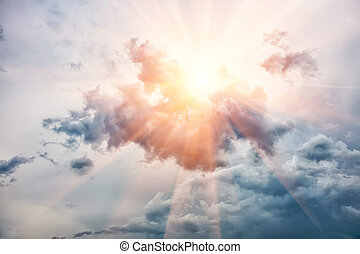 sky with sun and clouds