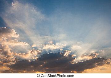 Sky with sunray