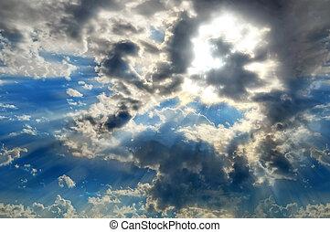 skyburst, nuvens