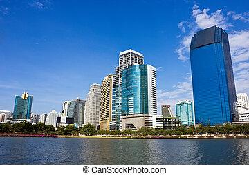 Skycraper in Bangkok city