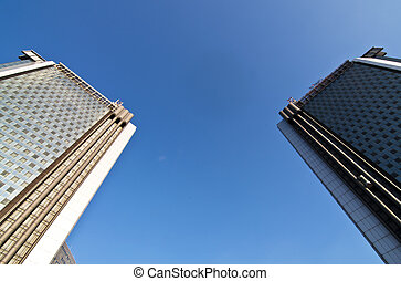 skycrapers at the city of Naples, Italy