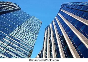 Skycrapers - Futuristic glass and steel skyscraper office ...