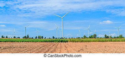 skydd, av, natur, -, slingra turbin