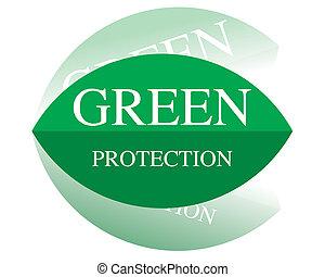 skydd, grön