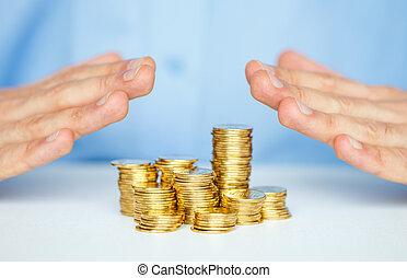 skydda, affär, start-up, räcker, färsk, mynt