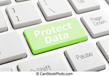 skydda, data, nyckel, tangentbord