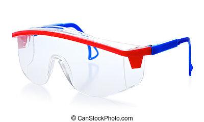 skyddande, glasögon