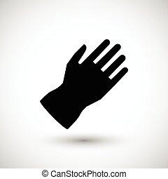 skyddande handske, ikon