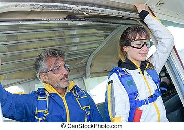 skydive, premier, temps