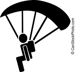 Skydiver Pictogram