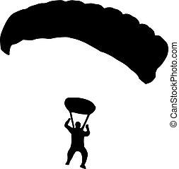 Skydiver Silhouette