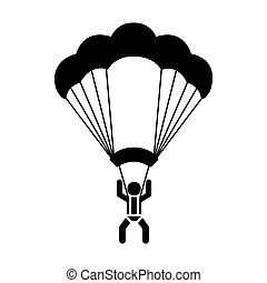 skydiving extreme sport icon
