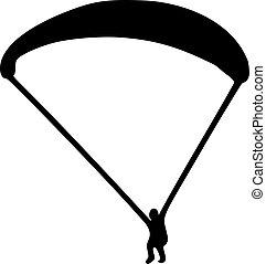 Skydiving pictogram