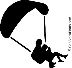 Skydiving Silhouette
