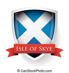skye, drapeau, ecosse, île, signe