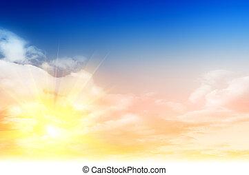 skyet himmel, farverig, baggrund