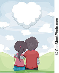 skygazing, couple