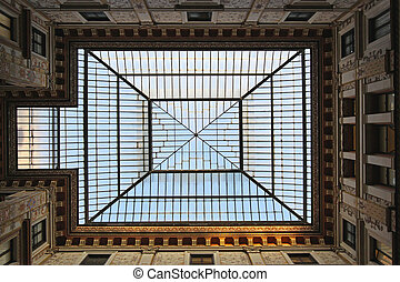 Skylight - Big rectangular skylight ceiling window in Rome ...