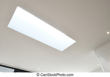 Skylight from frame in ceiling - Skylight from frame in new...