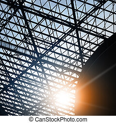 Skylight window - industrial architectural background