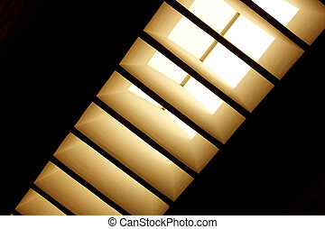 Skylight with diagonal blinds
