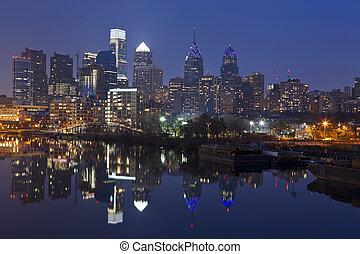 skyline., филадельфия