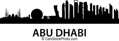 Skyline AbuDhabi - detailed skyline illustration of Abu...