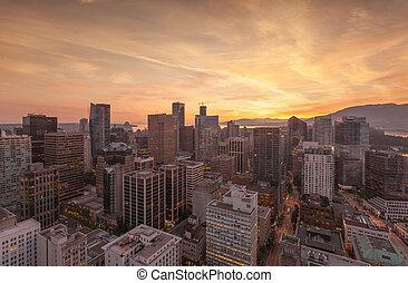 Skyline Aerial Panorama Vancouver