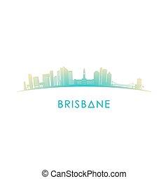skyline, austrália, brisbane, silhouette.