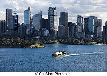 skyline., australia, sydney