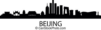 detailed vector illustration of Beijing, China