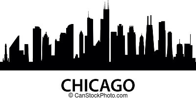 Skyline Chicago - detailed silhouette of Chicago, Illinois