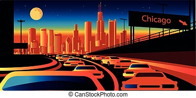 skyline, chicago, illinois