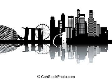 skyline, cingapura