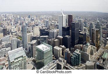 skyline città, da, torre cn