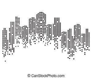 skyline città, moderno